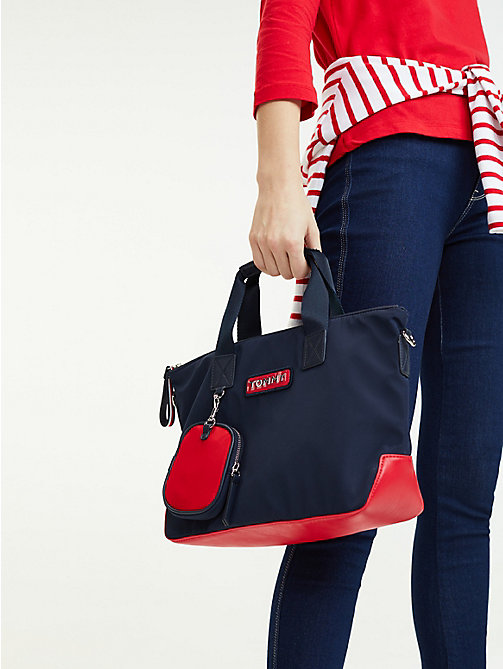TOMMY HILFIGER Varsity Small Zipped Tote - CORPORATE - TOMMY HILFIGER Tote Bags - detail image 1