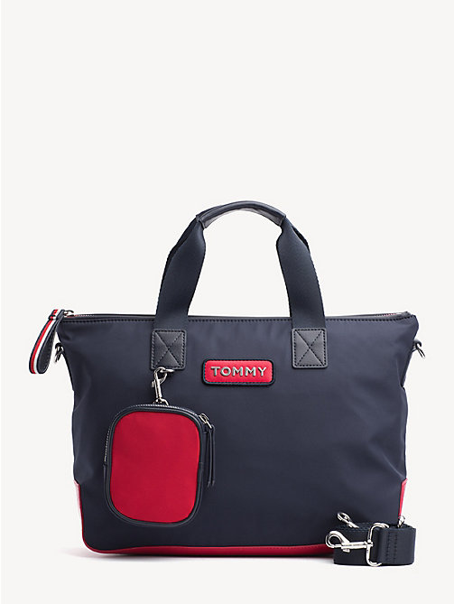 TOMMY HILFIGER Varsity Small Zipped Tote - CORPORATE - TOMMY HILFIGER Tote Bags - main image
