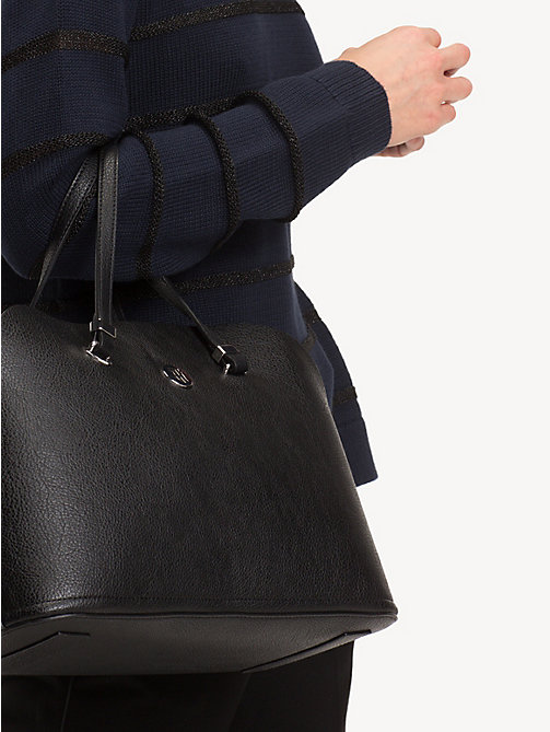 TOMMY HILFIGER TH Core Satchel - BLACK - TOMMY HILFIGER Satchel Bags - detail image 1