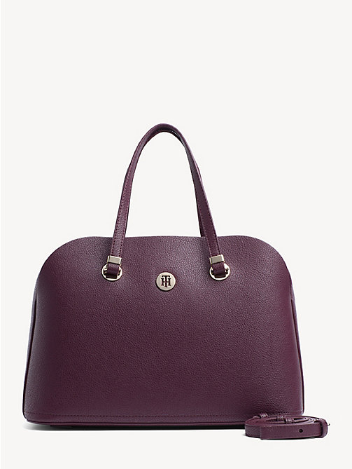 TOMMY HILFIGER TH Core Satchel - CABERNET - TOMMY HILFIGER Satchel Bags - main image