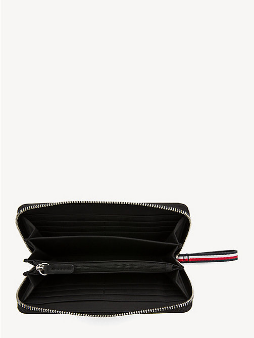 TOMMY HILFIGER Grote colour-blocked portemonnee - BLACK - TOMMY HILFIGER Portemonnees - detail image 1