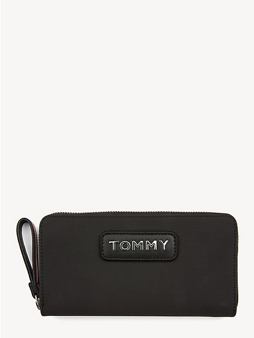 TOMMY HILFIGER Grote colour-blocked portemonnee - BLACK - TOMMY HILFIGER Portemonnees - main image