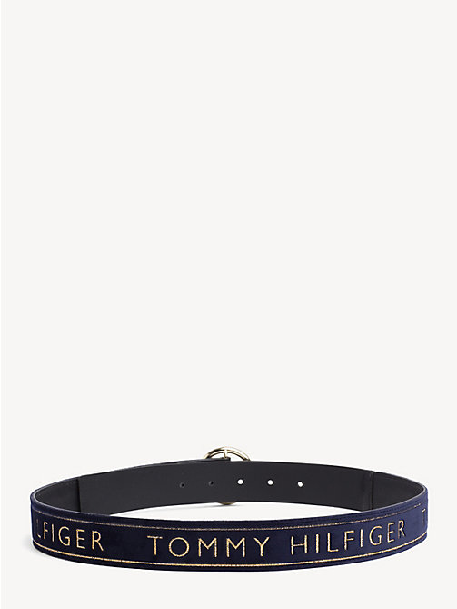 TOMMY HILFIGER Velvet Embroidered Belt - TOMMY NAVY - TOMMY HILFIGER Belts - detail image 1