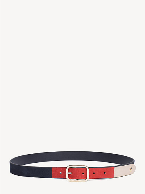 TOMMY HILFIGER Colour-Blocked Leather Belt - CORPORATE - TOMMY HILFIGER Belts - main image