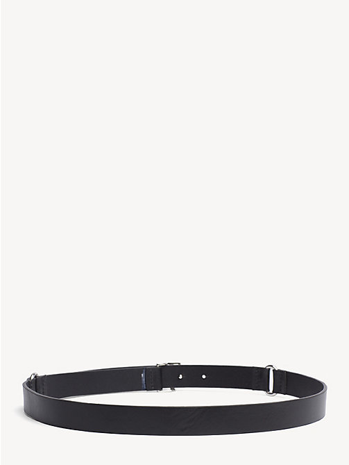 TOMMY HILFIGER Monogram Leather Belt - BLACK - TOMMY HILFIGER NEW IN - detail image 1
