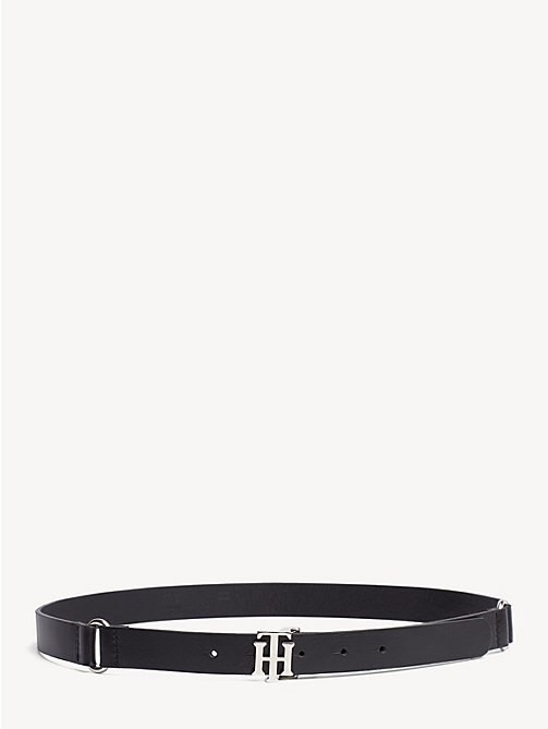 TOMMY HILFIGER Monogram Leather Belt - BLACK - TOMMY HILFIGER Belts - main image
