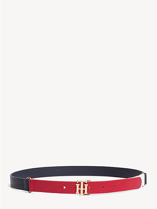 TOMMY HILFIGER Monogram Leather Belt - CORPORATE - TOMMY HILFIGER Belts - main image