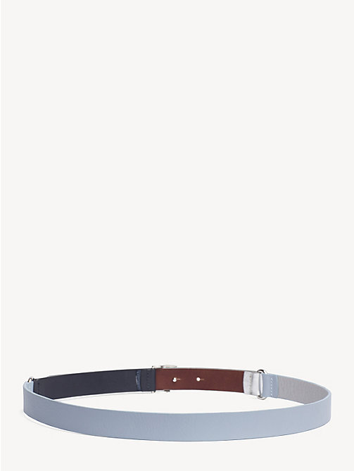 TOMMY HILFIGER Monogram Leather Belt - BLUE MIX - TOMMY HILFIGER Belts - detail image 1