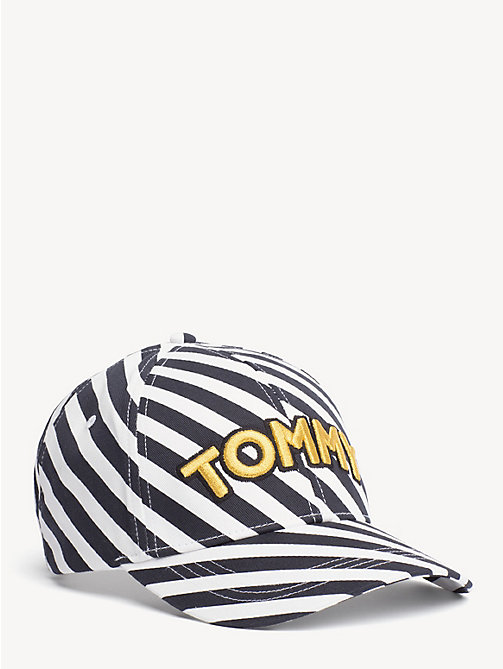 TOMMY HILFIGER Embroidered Logo Stripe Cap - NAUTICAL STRIPES - TOMMY HILFIGER Shoes & Accessories - main image