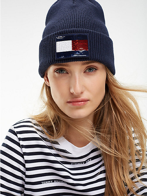 TOMMY HILFIGER Swap Your Patch Beanie - TOMMY NAVY - TOMMY HILFIGER Caps & Beanies - detail image 1