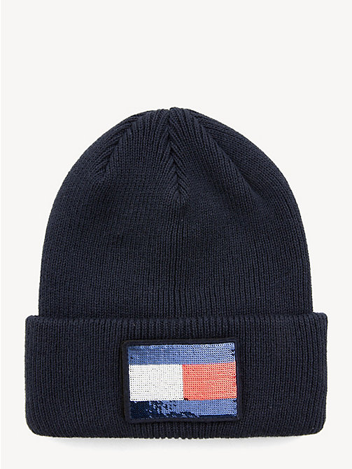 TOMMY HILFIGER Swap Your Patch Beanie - TOMMY NAVY - TOMMY HILFIGER Caps & Beanies - main image