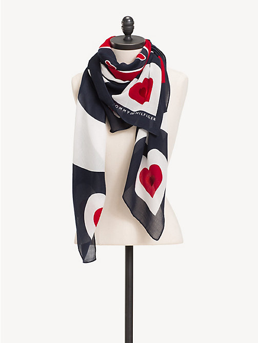 TOMMY HILFIGER Mascot Heart Square Scarf - CORPORATE - TOMMY HILFIGER NEW IN - detail image 1