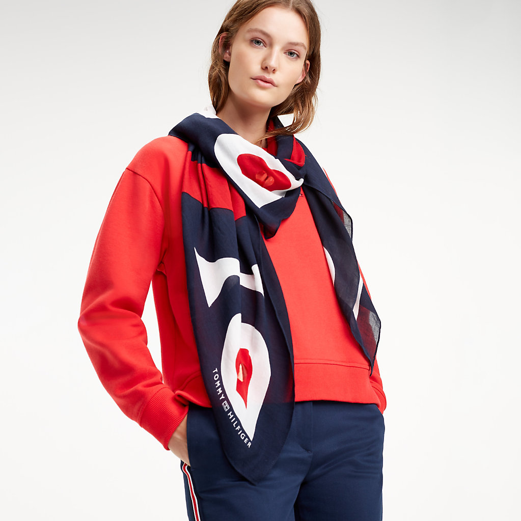 Mascot Heart Square Scarf   Tommy Hilfiger 452f2874541