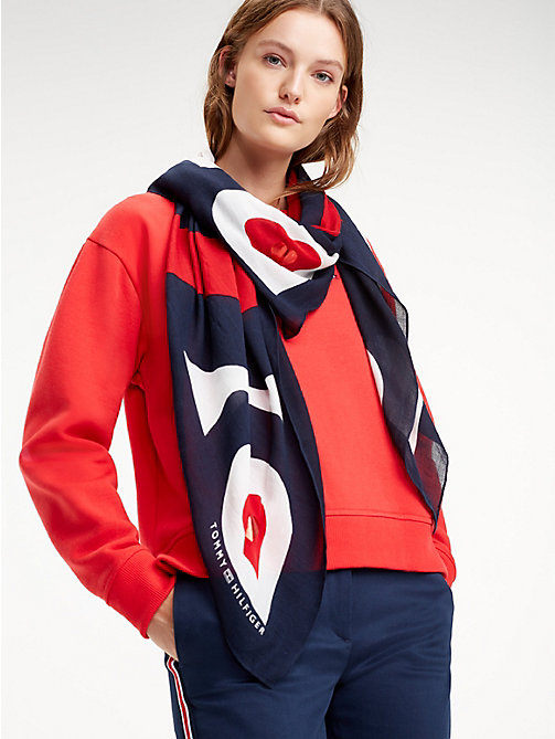 TOMMY HILFIGER Mascot Heart Square Scarf - CORPORATE - TOMMY HILFIGER Scarves - main image