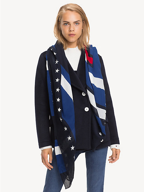 TOMMY HILFIGER Stars And Stripes Square Scarf - CORPORATE - TOMMY HILFIGER Winter Warmers - main image