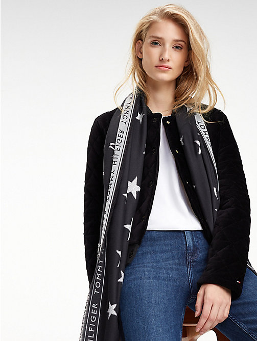TOMMY HILFIGER Sjaal met gerafelde rand - FIL COUPE' LUREX STARS - TOMMY HILFIGER Winter Musthaves - main image