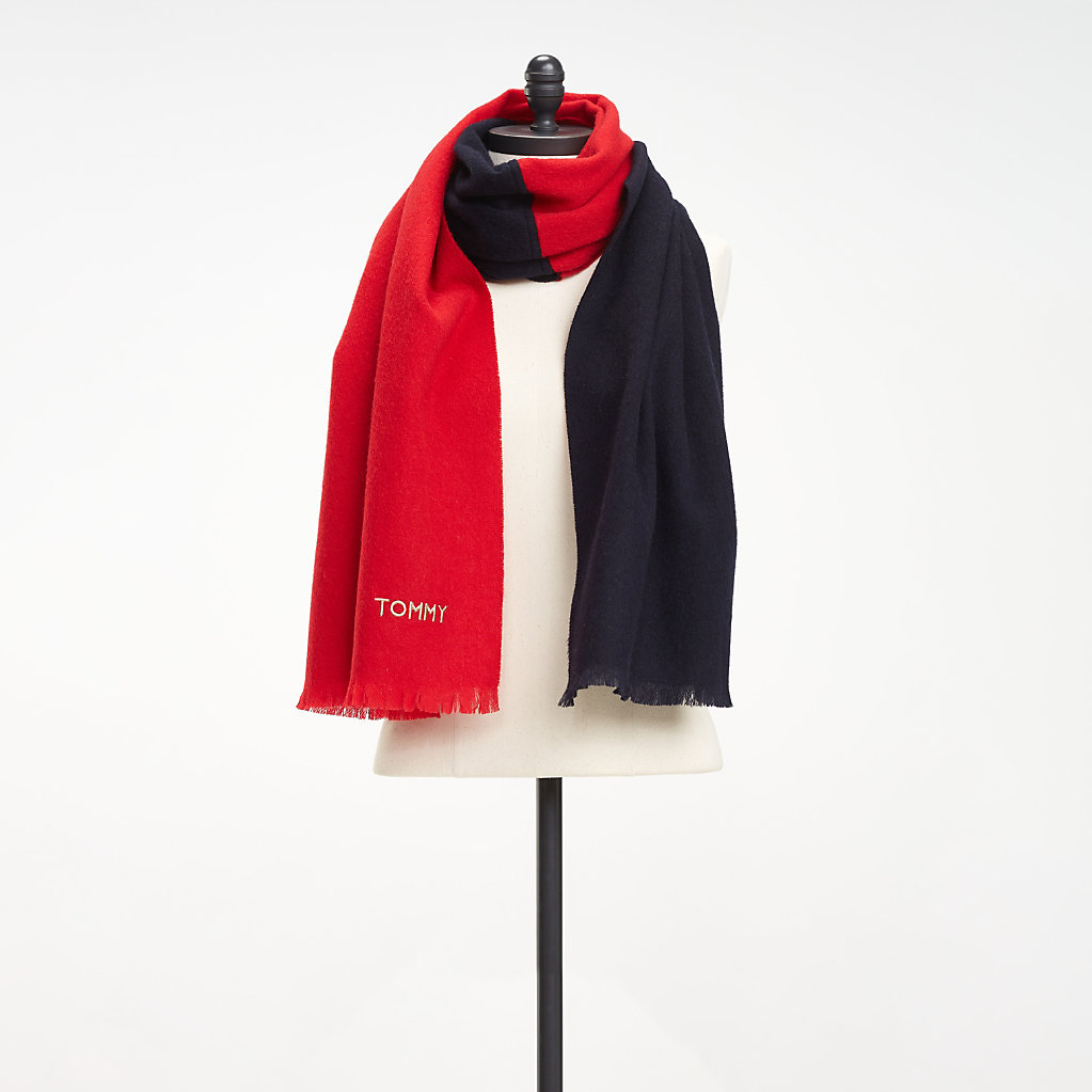 Tommy Hilfiger - Colour-Blocked Wool Scarf - 2