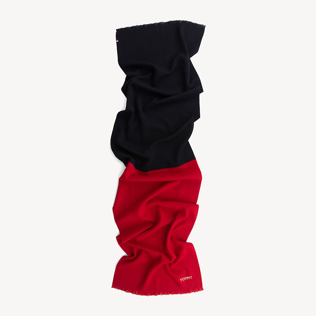 Tommy Hilfiger - Colour-Blocked Wool Scarf - 3