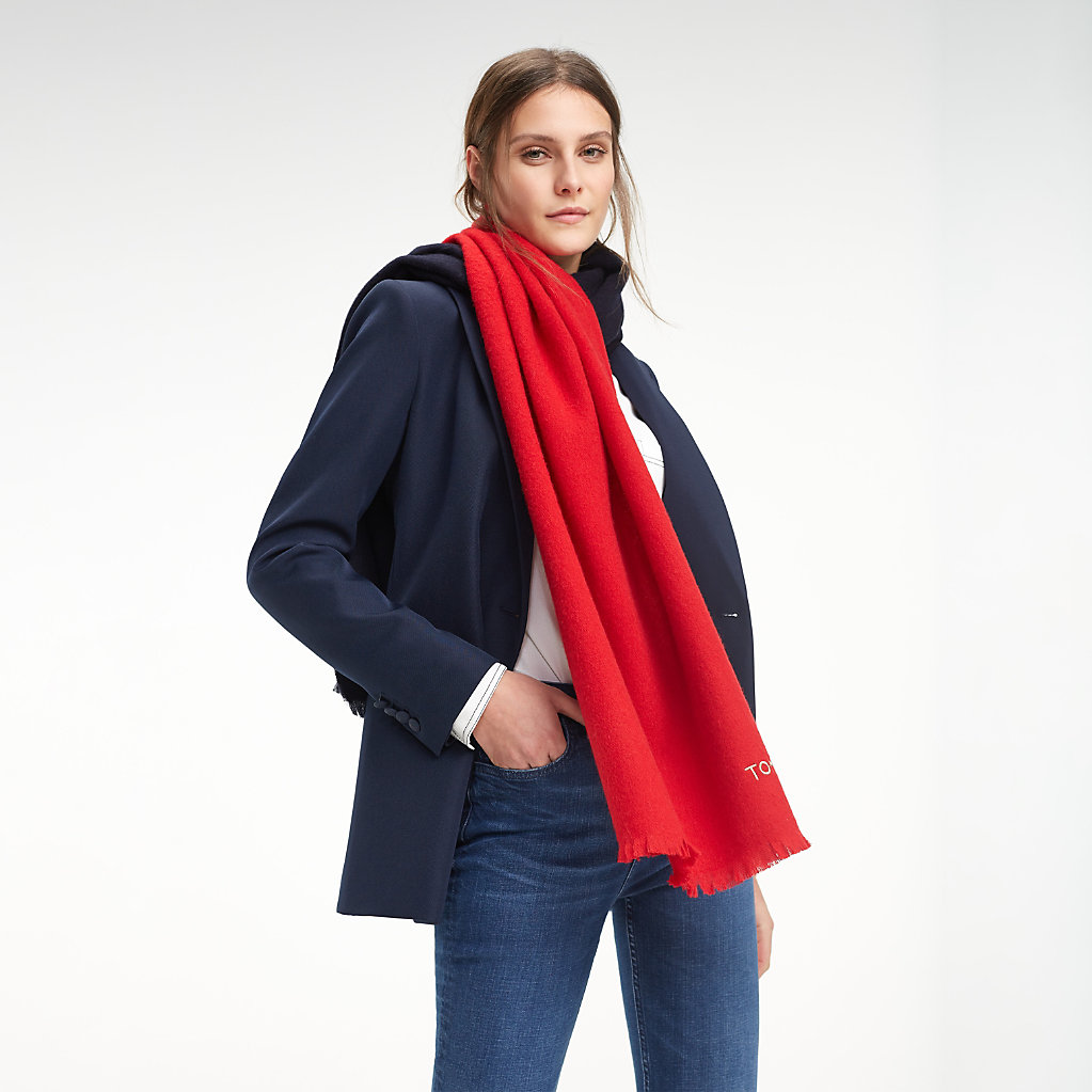 Tommy Hilfiger - Colour-Blocked Wool Scarf - 1