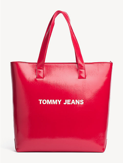 TOMMY JEANS TJ Modern High-Shine Tote - SAMBA - TOMMY JEANS Shoes & Accessories - main image