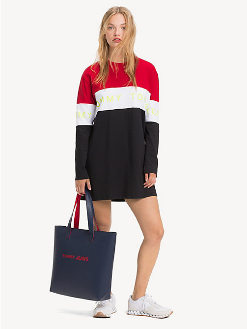 TOMMY JEANS TJ Modern Charm Tote - BLACK IRIS - TOMMY JEANS Shoes & Accessories - detail image 1