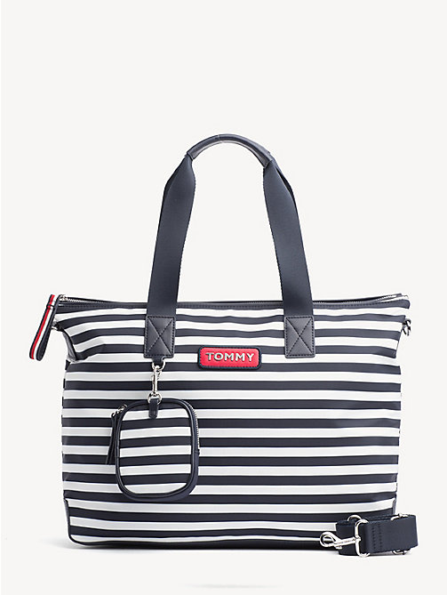 TOMMY HILFIGER Varsity Stripe Tote - STRIPE - TOMMY HILFIGER Tote Bags - main image