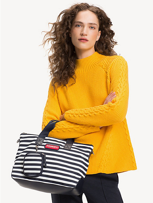 TOMMY HILFIGER Varsity Small Stripe Tote - STRIPE - TOMMY HILFIGER Tote Bags - detail image 1