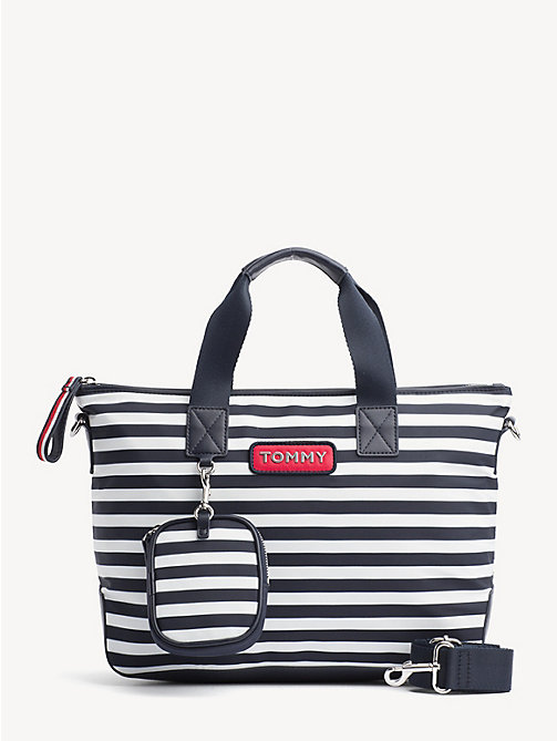 TOMMY HILFIGER Varsity Small Stripe Tote - STRIPE - TOMMY HILFIGER Tote Bags - main image