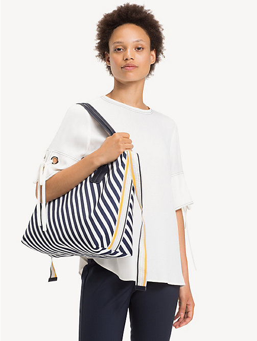 TOMMY HILFIGER Cool Tommy Tote Bag - NAUTICAL STRIPE - TOMMY HILFIGER Tote Bags - detail image 1