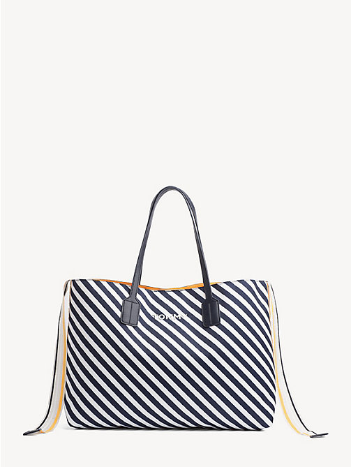 TOMMY HILFIGER Cool Tommy Tote Bag - NAUTICAL STRIPE - TOMMY HILFIGER Tote Bags - main image