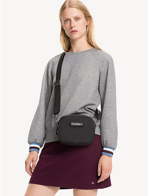 TOMMY HILFIGER Varsity Crossbody Bag - BLACK - TOMMY HILFIGER Crossbody Bags - detail image 1