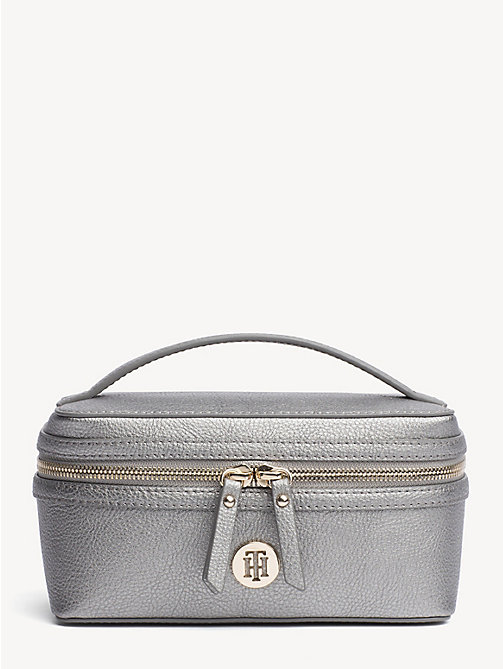 TOMMY HILFIGER TH Core Cosmetics Bag - PEWTER - TOMMY HILFIGER Stocking Stuffers - main image