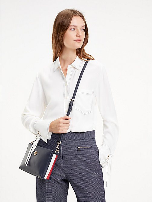 TOMMY HILFIGER Effortless saffiano crossbodytas - CORPORATE - TOMMY HILFIGER Crossbodytassen - detail image 1