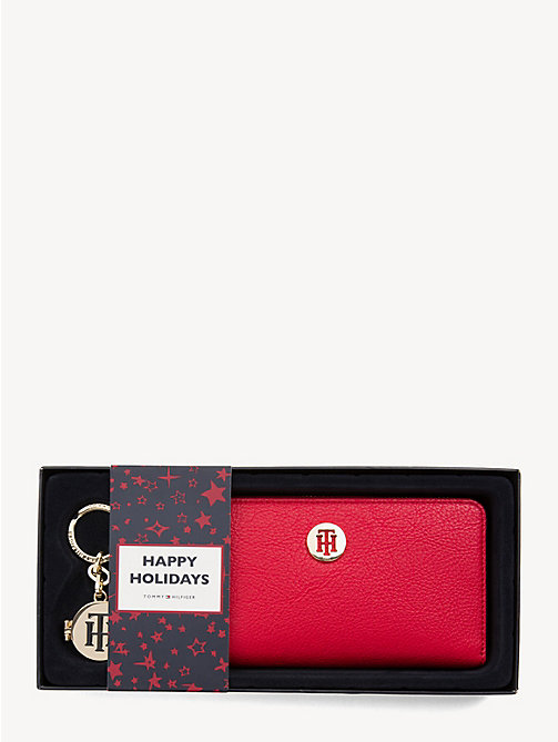 TOMMY HILFIGER TH Core Wallet and Key Fob Set - TOMMY RED - TOMMY HILFIGER Stocking Stuffers - main image