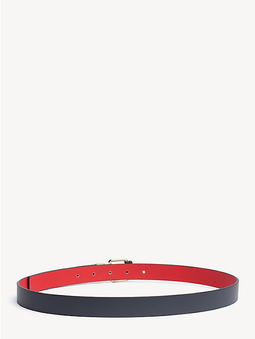 TOMMY HILFIGER Logo Keeper Reversible Leather Belt - TOMMY NAVY/ TOMMY RED - TOMMY HILFIGER Belts - detail image 1