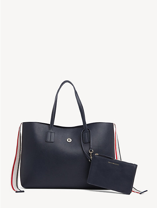 TOMMY HILFIGER Cool Tommy metallic shopper - TOMMY NAVY - TOMMY HILFIGER Shoppers - main image
