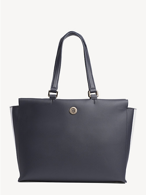 TOMMY HILFIGER Effortless Monogram Plaque Tote Bag - CORPORATE - TOMMY HILFIGER Tote Bags - main image