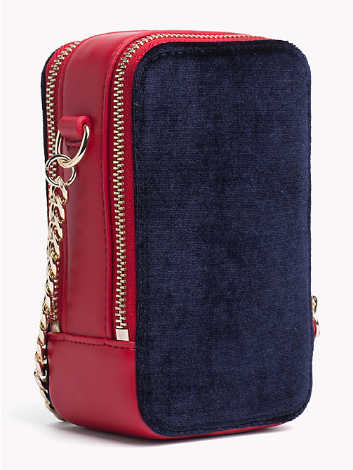 TOMMY HILFIGER TH Idol Velvet Crossover Bag - TOMMY NAVY - TOMMY HILFIGER Party Looks - detail image 1