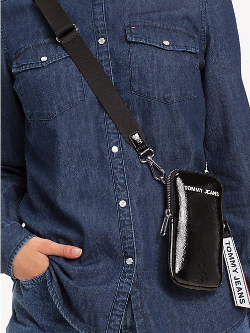 TOMMY JEANS TJ Modern Phone Case - BLACK - TOMMY JEANS Shoes & Accessories - detail image 1