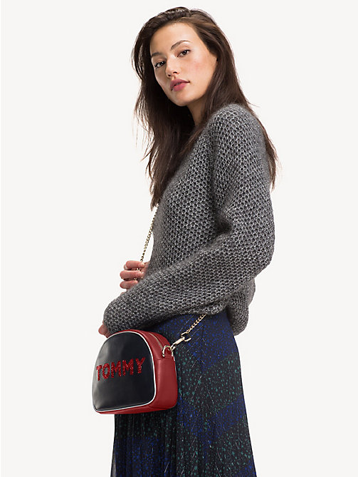 TOMMY HILFIGER Borsa a tracolla in pelle Cool Tommy - TOMMY NAVY MIX - TOMMY HILFIGER Party Look - dettaglio immagine 1