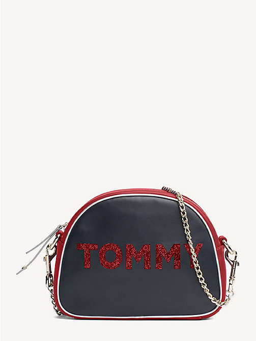 TOMMY HILFIGER Cool Tommy leren crossbodytas - TOMMY NAVY MIX - TOMMY HILFIGER Partylooks - main image