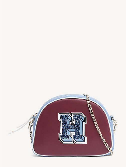 TOMMY HILFIGER Cool Tommy Leather Crossover Bag - CABERNET MIX - TOMMY HILFIGER Crossbody Bags - main image