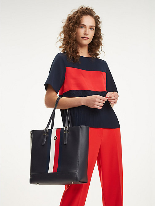 TOMMY HILFIGER Leren corporate shopper - CORPORATE - TOMMY HILFIGER Shoppers - detail image 1
