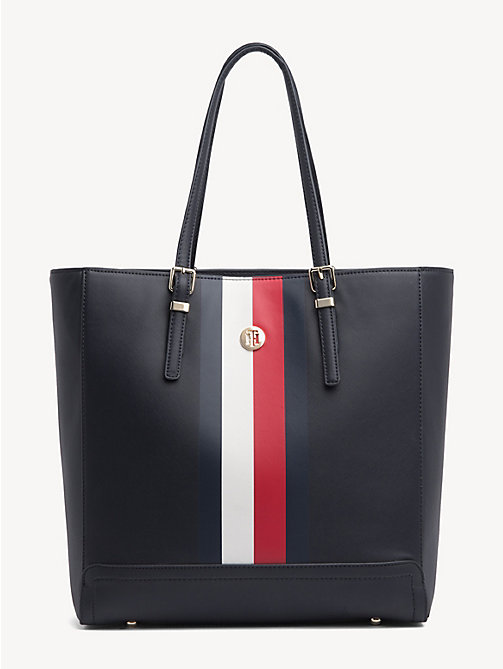TOMMY HILFIGER Leren corporate shopper - CORPORATE - TOMMY HILFIGER Shoppers - main image