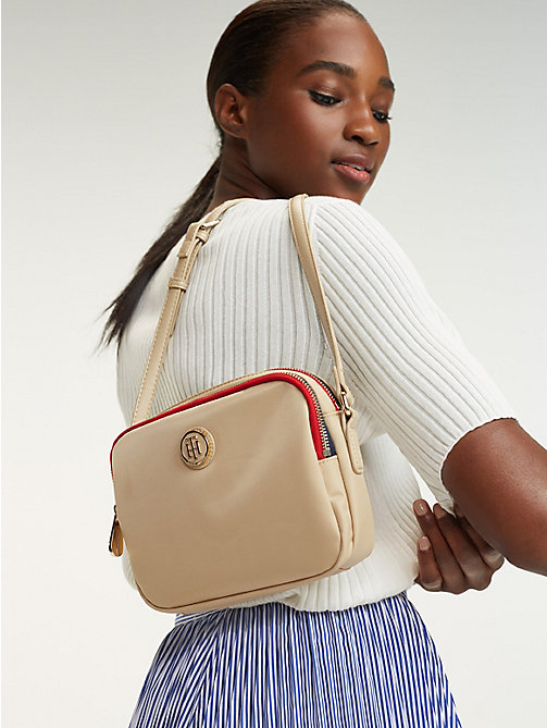 TOMMY HILFIGER Small Crossover Bag - WARM SAND - TOMMY HILFIGER Crossbody Bags - detail image 1