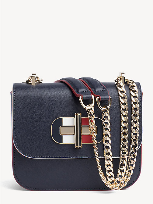7b0a4ff76cd TOMMY HILFIGERLeather Turn Lock Crossover Bag. £170.00. TOMMY NAVY. x. NEW