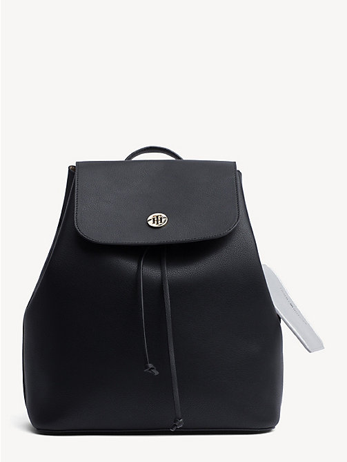 3b9d8763fd TOMMY HILFIGERDrawstring Monogram Tommy Backpack. £130.00. BLACK   WARM  SAND. x