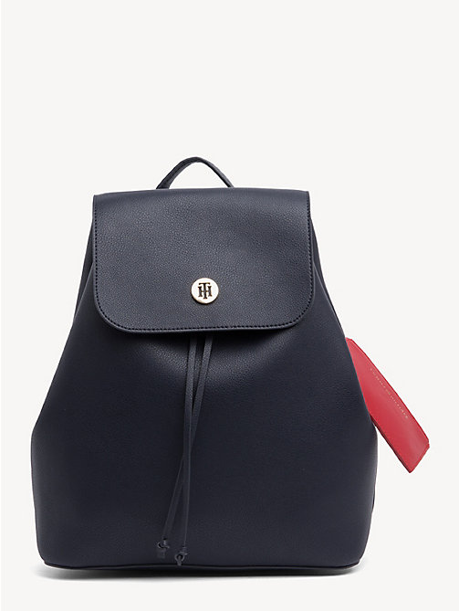 TOMMY HILFIGER Drawstring Monogram Tommy Backpack - TOMMY NAVY/ TOMMY RED - TOMMY HILFIGER Backpacks - main image