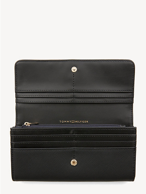 TOMMY HILFIGER Large Monogram Wallet - BLACK - TOMMY HILFIGER Wallets - detail image 1