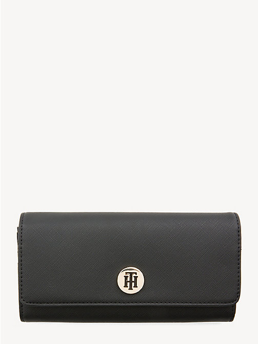 TOMMY HILFIGER Large Monogram Wallet - BLACK - TOMMY HILFIGER Wallets - main image